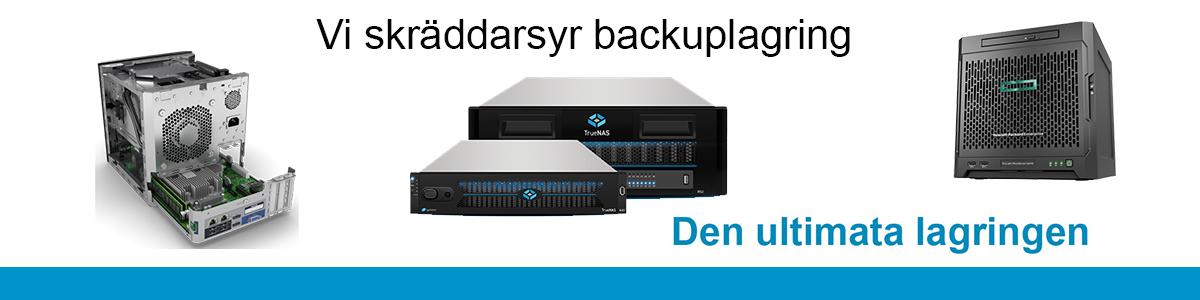 Vi bygger din optimerade backuplösning som är prisvärd, säker och uppfyller alla krav.