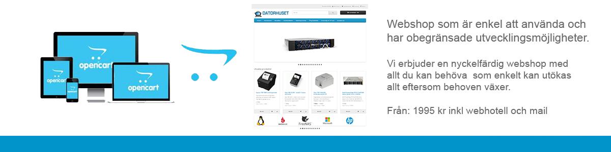 Nyckelfärdig webshop när du vill sälja online.